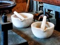 Two Mortars and Pestles in Lab