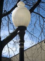 Street lamp waiting for spring