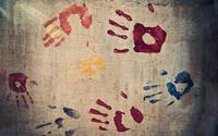 Children's Hand Prints Abstract