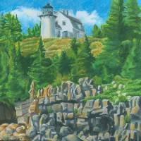 Bear Island Lighthouse Art Prints & Posters by Dominic White