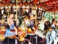 Waving Hi From the Merry-Go-Round
