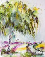 Dreaming Of Provence Watercolor and Ink