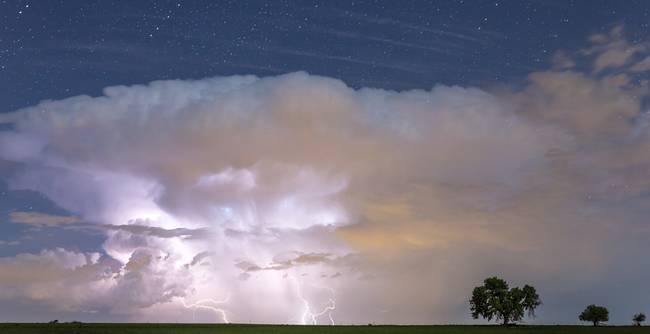 Lightning Thunderstorm On the Colorado Plains