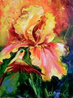 iris and hummingbirds,