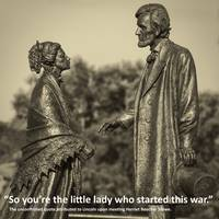 Lincoln Meets Stowe Sculpture With Quote