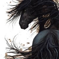"""Majestic Friesian Horse 143"" by AmyLynBihrle"