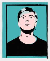 Andy Warhol Self-Portrait 1964 On Cyan - High Qual