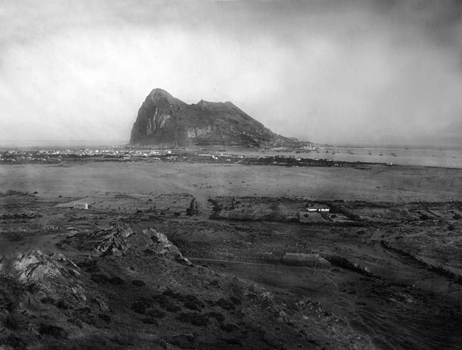 Gibraltar as seen from SPain, c1900