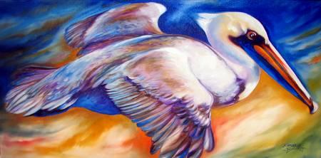 FLIGHT of the Brown Pelican