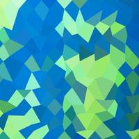 Dark Cyan Abstract Low Polygon Background