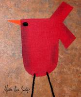 Expressive Art Series 1 Red Bird