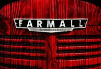 Vintage Farmall Red Tractor With Wood Grain