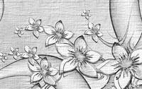 Black White Floral Art Prints