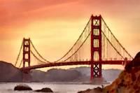 Goldengate Bridge California Art Print