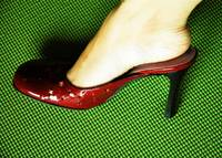 glam shoes for padded surfaces...