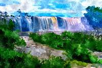 Waterfall Seascape - Lanscape
