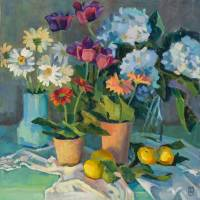 Splashy Flowers Art Prints & Posters by Susie Muise