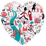 london-illustration-flat Prints & Posters