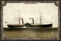 Steamship on Sea. Age of Steam #009