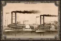 Two Steamboat on River. Age of Steam #010