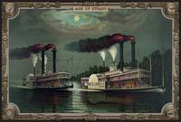 Two Steamboats on the river. Age of Steam #015