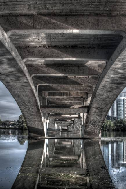 Under the Lamar Blvd Bridge