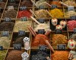 Antibes Market - Salts and Peppers by Allen Sheffield