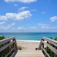 """""""Seascape Juno Beach Boardwalk Florida B1"""" by Ricardos"""