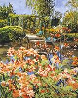 MONET'S BOAT WITH RHODODENDRONS