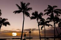 Hawaiian-Beach-Tiki-Sunset