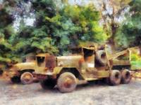 Two Army Trucks
