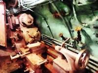 Metal Lathe In Submarine