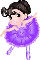 Cute Little Violet Ballerina
