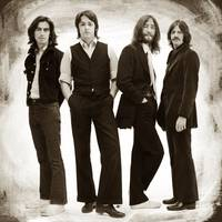 The Beatles Painting Late 1960s Early 1970s Sepia