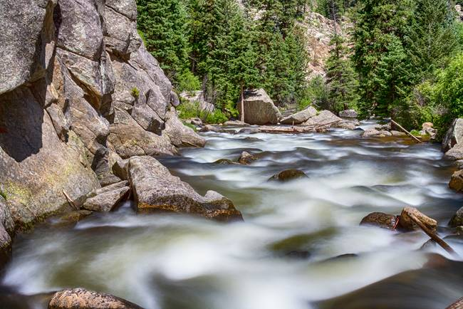 Boulder Canyon - Boulder Creek - Colorado