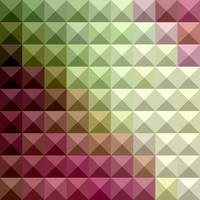 Deep Mauve Purple And Green Abstract Low Polygon B