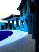 Deep Turquoise Modern Architecture