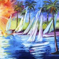 """""""Caribbean Paradise"""" by kevinbrownpaintings"""