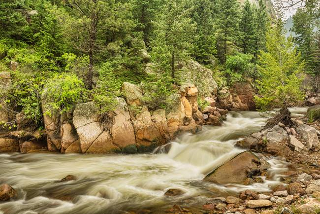 Colorado South St Vrain Canyon and Creek