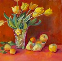 Yellow Tulips & Fruit