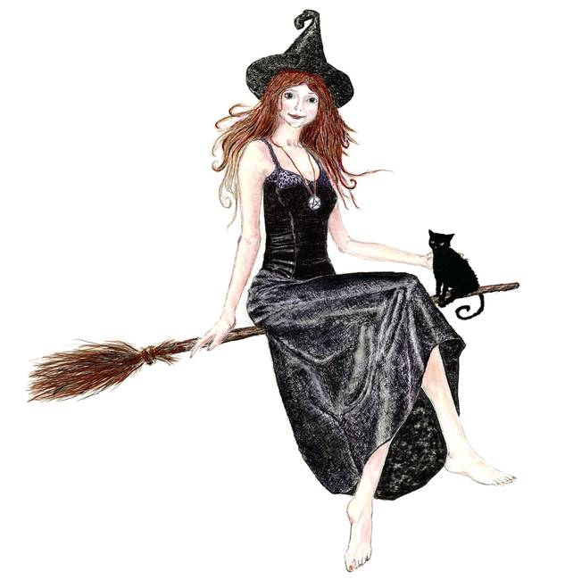 witch on a broomstick by dean swinfield