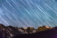 Stars Raining Down On The Colorado Indian Peaks