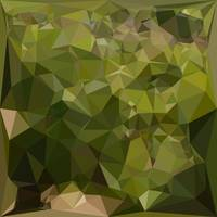 Olive Green Abstract Low Polygon Background