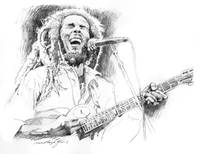 SKETCHES OF BOB MARLEY