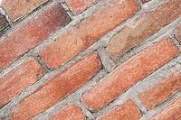 Angled Adobed Bricks Mortared