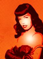 Bettie Page - Pop Art - Digital Art
