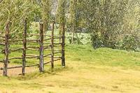 Wood Fence in a Farmer's Field