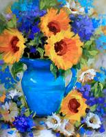 Blue Thunder Sunflowers