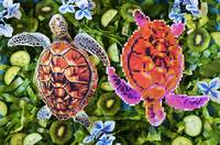 Turtles in a green salad