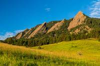 Boulder Colorado Flatirons Sunrise Golden Light